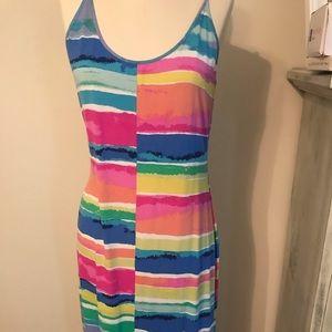 Lilly Pulitzer colorblock maxi dress.